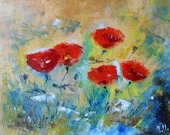 "Painting flowers ""Poppies"""