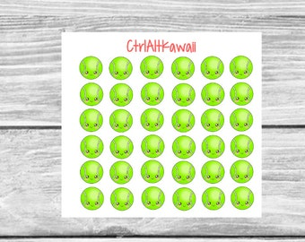 Kawaii Tennis Balls Stickers