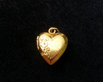 10k Solid Gold  Heart Locket from the 50's