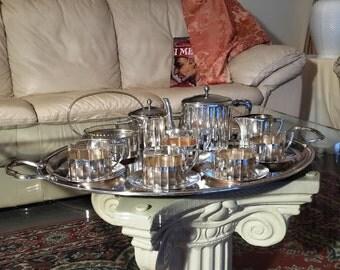 Argentor Silver Plate Tea Set 1910 art Nouveau