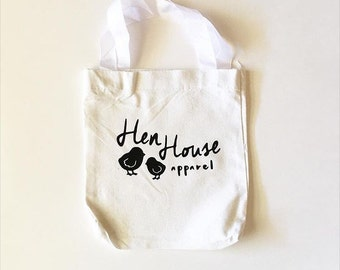 small canvas market tote bag