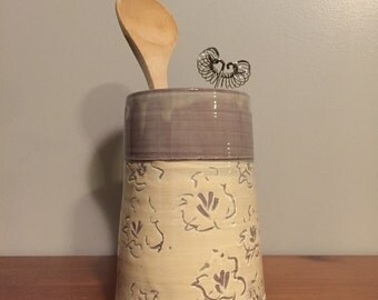 Pottery - Utensil Holder  - Kayla Marie Ceramics - Pandecor