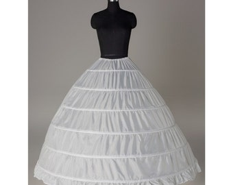 Quality 6 hoops Petticoat/under skirt/slips/hoop skirt/crinoline PTCT033 Sale!