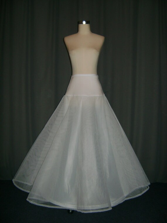 a line petticoat skirt slips hoop by laceweddingbridal