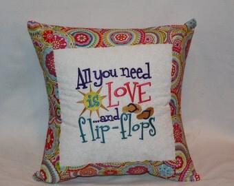 Flip Flop Throw Pillow