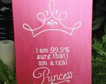 "Princess Canvas (9""x12"")"