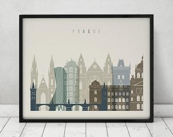Prague art print, Poster, skyline, Travel Wall art, Czech Republic, Wall Decor, City poster, Fine Art prints, Home Decor, ArtPrintsVicky