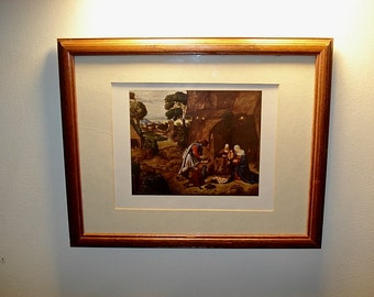 Adoration Of The Shepherds,Giorgione Print, Giorgione,Canvas Painting,Religious Painting , Venice,Shepherds, Nature Scene,Giorgione Shepherd
