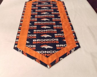 Denver Broncos Table Runner for your Super Bowl Party!