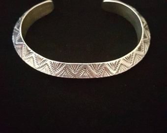 Sterling silver Navajo braclet