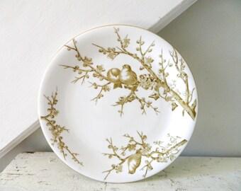Vintage Bird Plate White