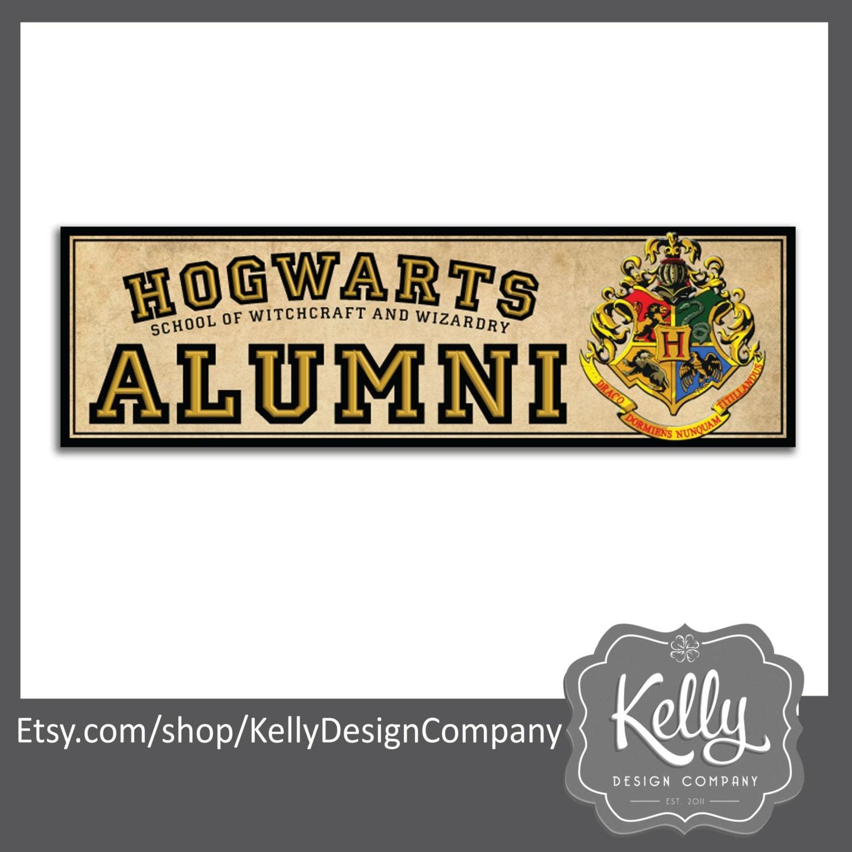 Hogwarts alumni bumper sticker harry potter humor hogwarts - Hogwarts decal ...