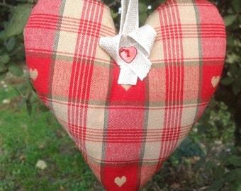 Red & green, heart lavender sachet  home fragrance  decoration