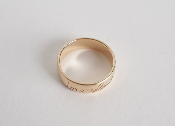 Can You Put Your Own Handwriting On A Ring