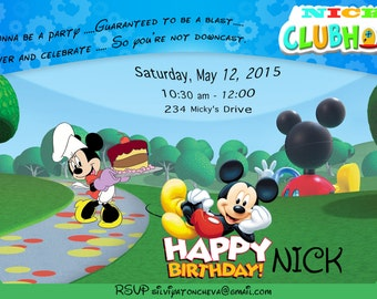Micky Mouse Clubhouse Invitation