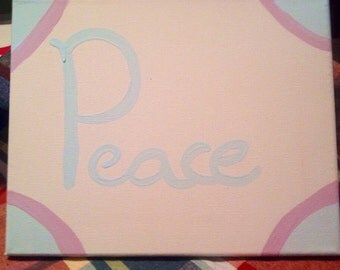 """Canvas """"Peace"""" Painting"""