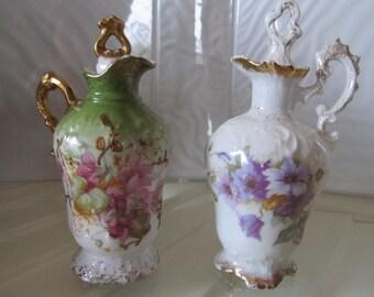 Ornately decorated Dresser Bottles