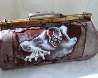 Male genuine leather bag