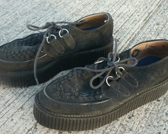 Black Suede Brothel Creepers / Beetle Crushers / Rockabilly