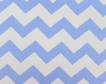 """1"""" Light Blue Chevron Fabric"""