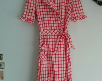 1940 1950 Ruth Adler Novelty Frocks housewife house dress house wrap robe