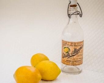 Antique Vintage Bottle / vintage medicine bottle / vintage glass bottle / vintage glass bottle with label
