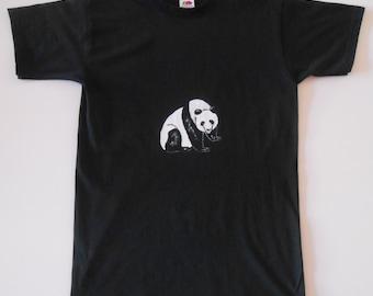 Panda hand-painted t-shirt