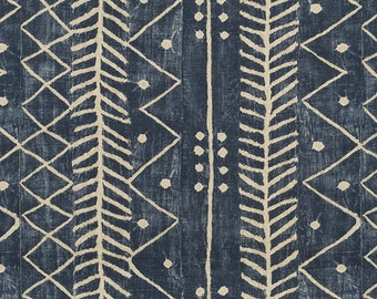 RALPH LAUREN GALAPAGOS Ethnic Chic Woven Fabric 10 Yards Lapiz Blue