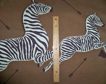 SCALAMANDRE ETHNIC CHIC Safari Zebras Print Fabric 5 Yards Safari Brown