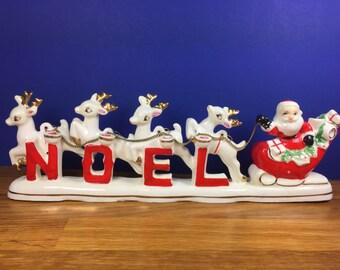 Relco Santa and Reindeer NOEL