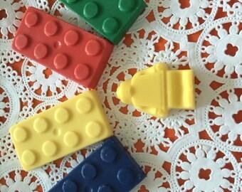 BUILDING BLOCKS Chocolate Blocks Favor Bags(10 qty) -LEGO Theme Birthday/Children's BirthdayParty/Building Blocks Themed Party/Party Favors