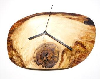 Clock, wall clock, rustic clock, wooden clock (024)