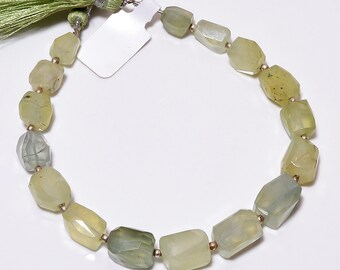 Prehnite nuggets beads loose gemstone,prehnite tumble semi precious 6x8mm to 9x12mm approx