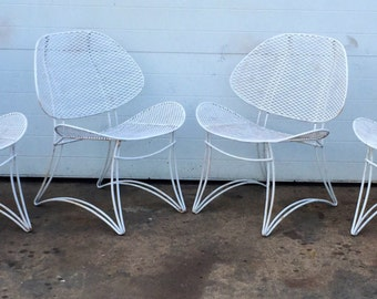 Mid Century Iron Clamshell Chairs