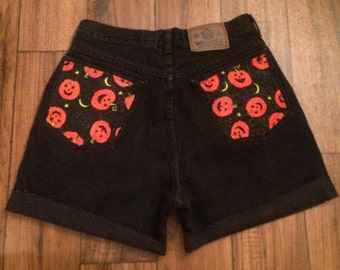 Pumkin Patch Black High Wasted Shorts