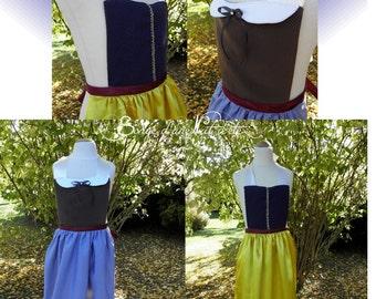 Tablier REVERSIBLE  robe Princesse Blanche-neige 2 en 1
