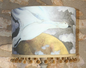 animal handmade lampshade handpainted gift for childrens nursery or baby shower or specail gift  adult looks fabulous in a livinroom
