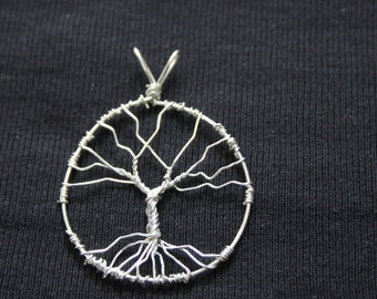 Silver plated Tree of Life pendant