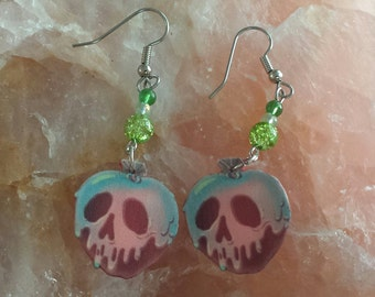Snow White Inspired Poison Apple Earrings
