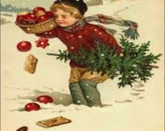 """2"""" x 3"""" Magnet MAGNET Vintage Best Wishes for Christmas"""