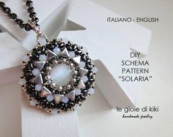 """DIY, schema pendente """"Solaria"""""""