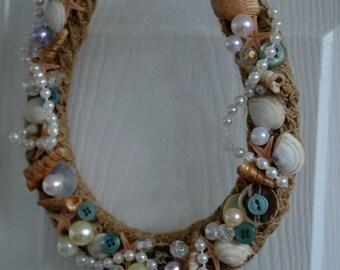 wedding horseshoe gift/ beach,shells theme