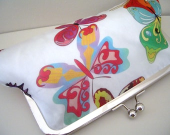 Silk Butterfly Evening Bag, purse, clutch bag, Fabric no.6