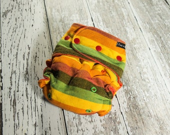 Girasol Wrap Scrap Hybrid Fitted//Organic Insert//One Sized Cloth Diaper CUSTOM