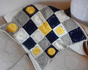 SALE Crochet Sunflower Baby Blanket