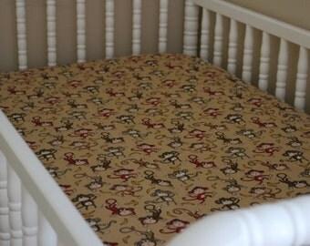 Monkeys Crib Sheet