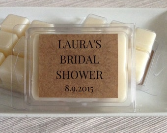 Soy Wax Melt Favors | Custom Bridal Shower Favors | Unique Bridal Shower Favors | Soy Wax Melts | Candle Shower Favors | Eco Friendly