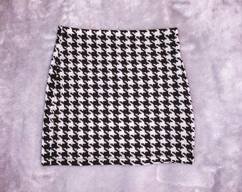Houndstooth Tight Skirt S