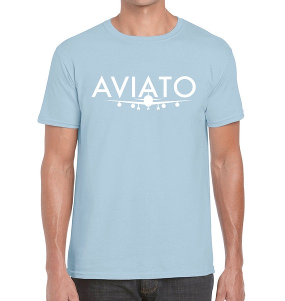 Light Blue AVIATO Logo T-shirt