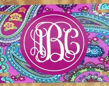 Pink paisley Monogram License Plate personalized license plate pink paisley license plate monogram Car Tag New
